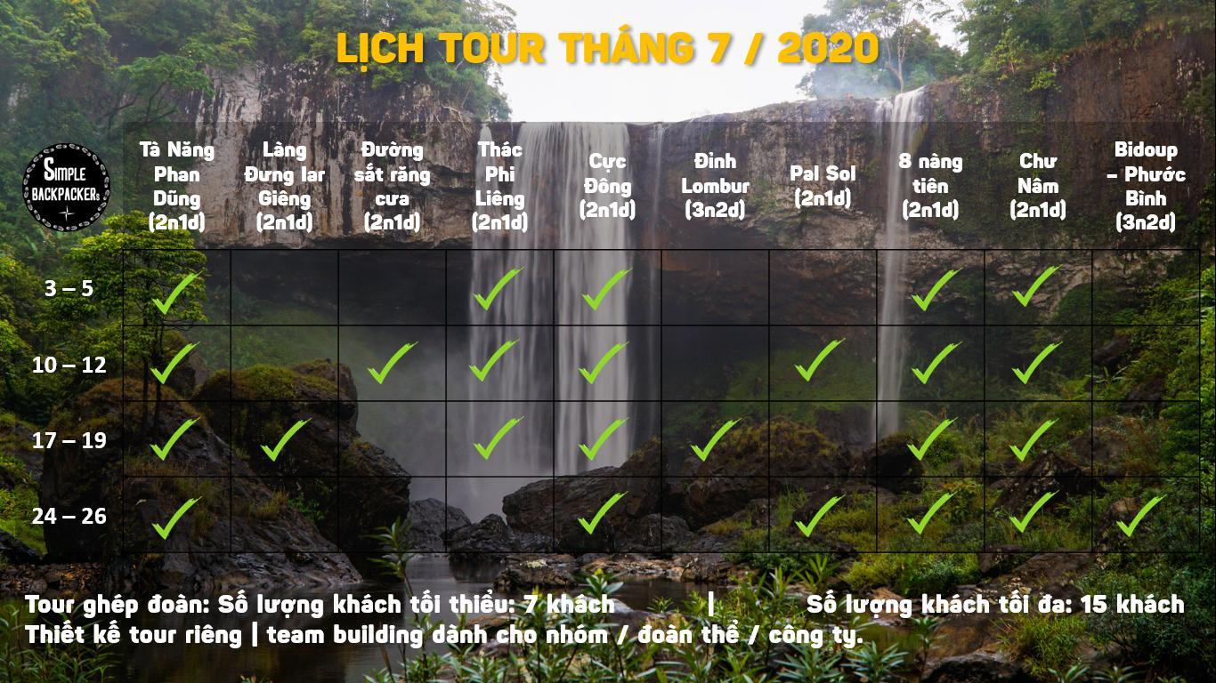 lich tour thang 7